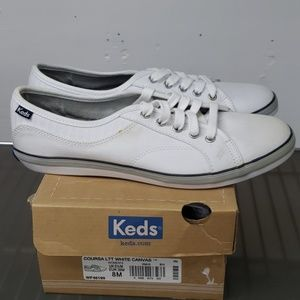 Keds coursa white canvas